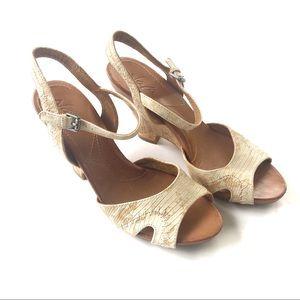 Anthropologie Naya Gemini Wedge Sandal Shoes